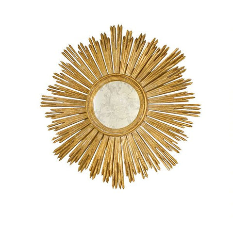 Margeaux Handcarved Gold Leaf Starburst Mirror design by BD Studio