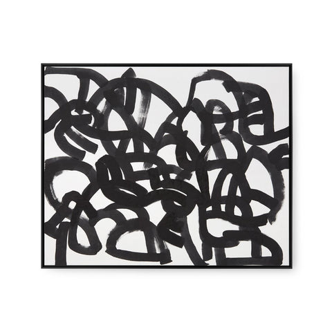 Maze Framed Silk Panel by Bungalow 5