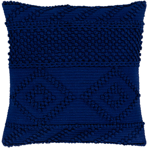 Merdo Hand Woven Pillow in Navy