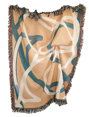 Meandering Line Woven Throw Blanket