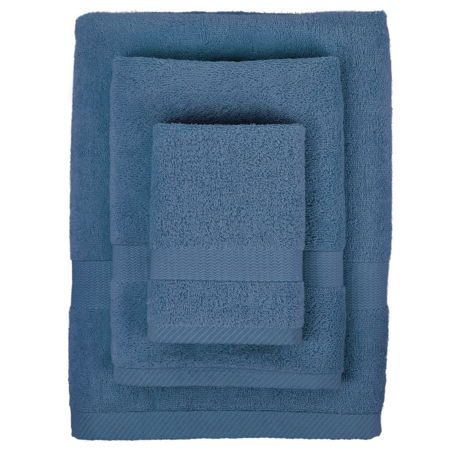Bamboo Viscose Towel Set in Midnight Blue