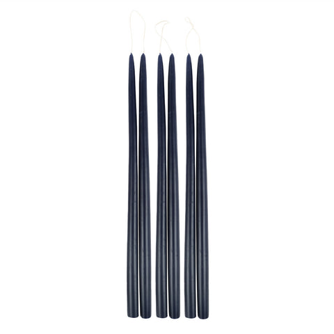 Midnight Taper Candles in Various Sizes