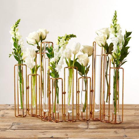 Set of 10 Hinged Flower Vases design by Tozai