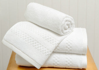 Set of 3 Mini Squares Hand Towels in White design by Turkish Towel Company
