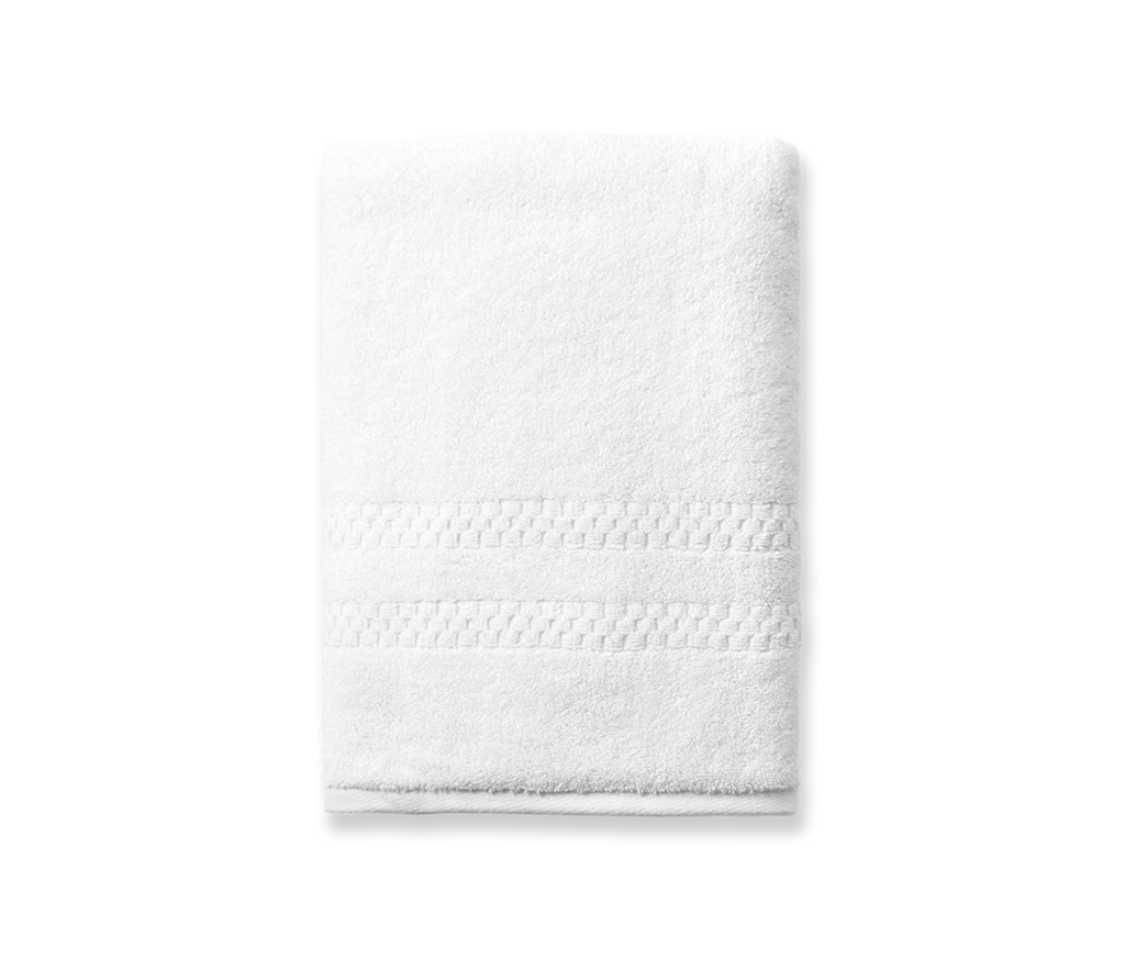 Set of 3 Mini Squares Bath Towels in White design by Turkish Towel Company