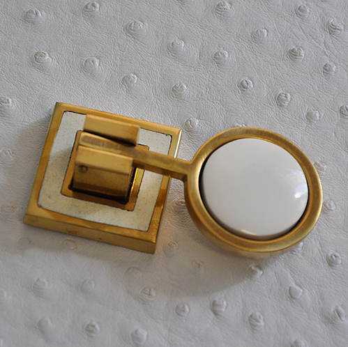 Brass Pull Knob with Inset Resin in Various Colors