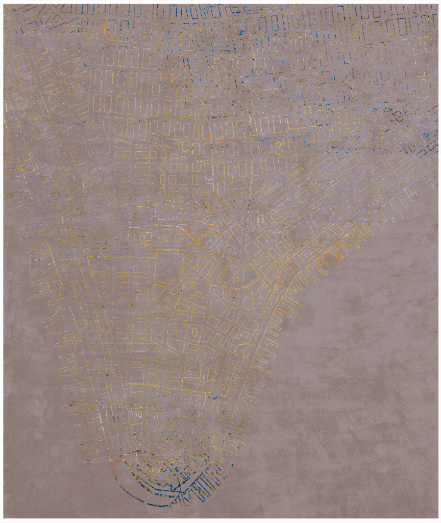 Lower Manhattan Neon Edit Hand Knotted Rug in Assorted Colors design by Second Studio