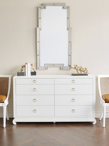 Ming Extra Large 8-Drawer Dresser in White by Bungalow 5