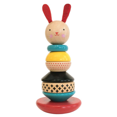 Modern Bunny Wooden Stacking Toy by Petit Collage