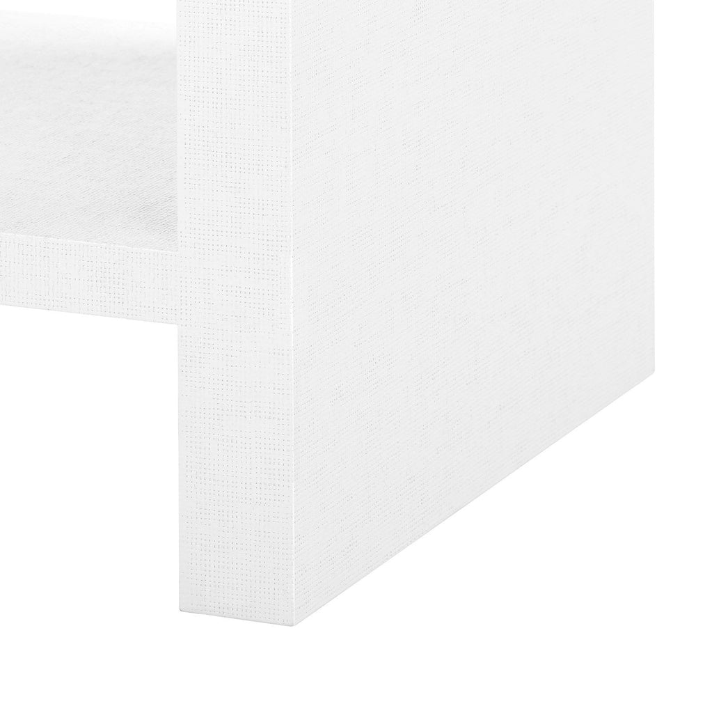 Morgan Grasscloth 1-Drawer Side Table by Bungalow 5