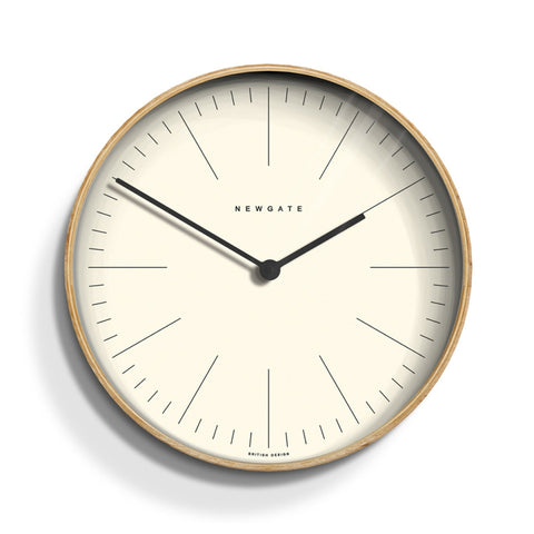 Mr Clarke wall Clock in Pale Wood design by Newgate