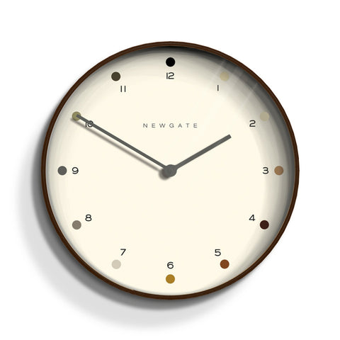 Mr Clarke Wall Clock in Dark Wood design by Newgate
