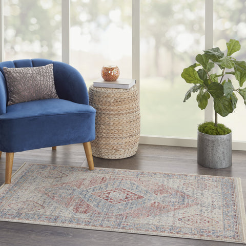 Homestead Rug in Blue/Grey by Nourison