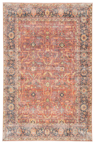 Avonlea Oriental Blue & Orange Area Rug
