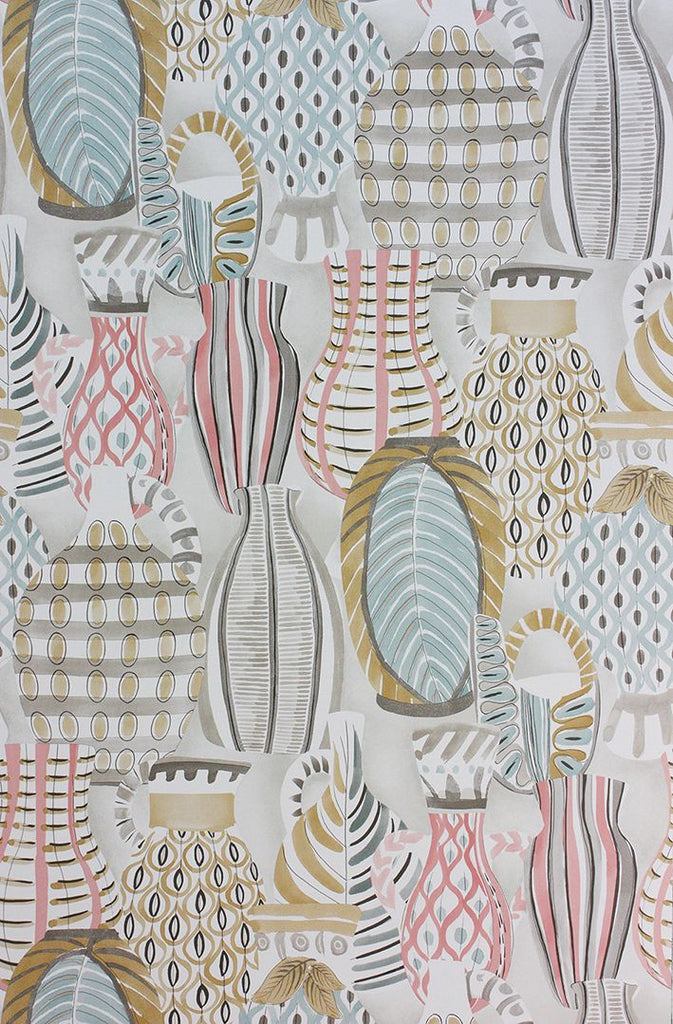 Sample Collioure Wallpaper in multi-color from the Les R��ves Collection by Nina Campbell