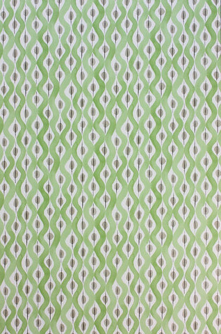 Beau Rivage Wallpaper in green from the Les Rêves Collection by Nina Campbell