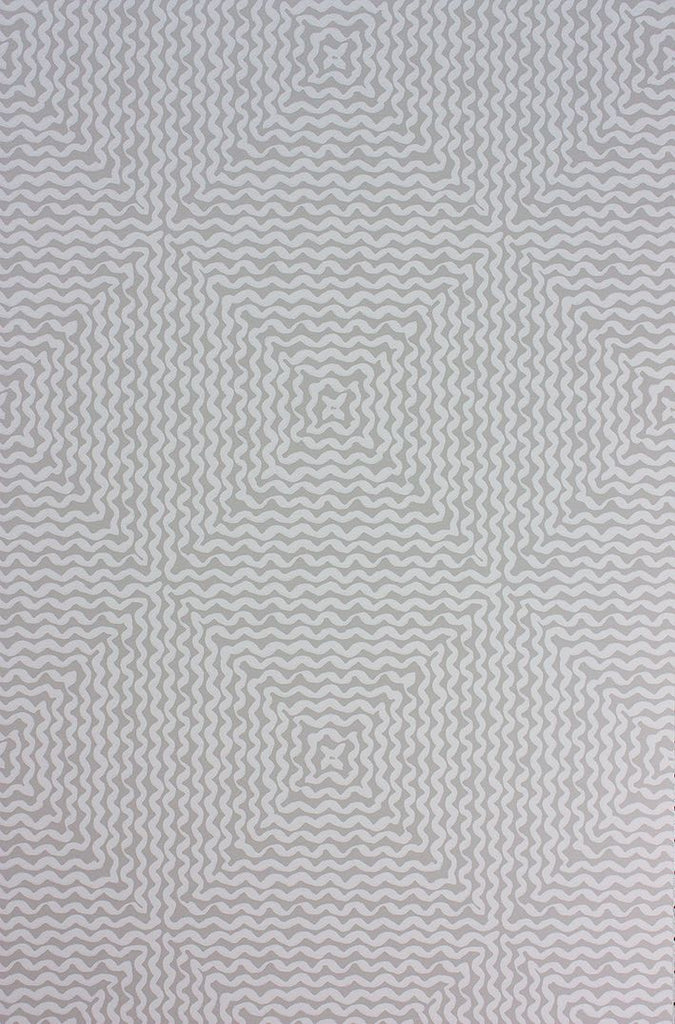 Mourlot Wallpaper in silver from the Les Rêves Collection by Nina Campbell