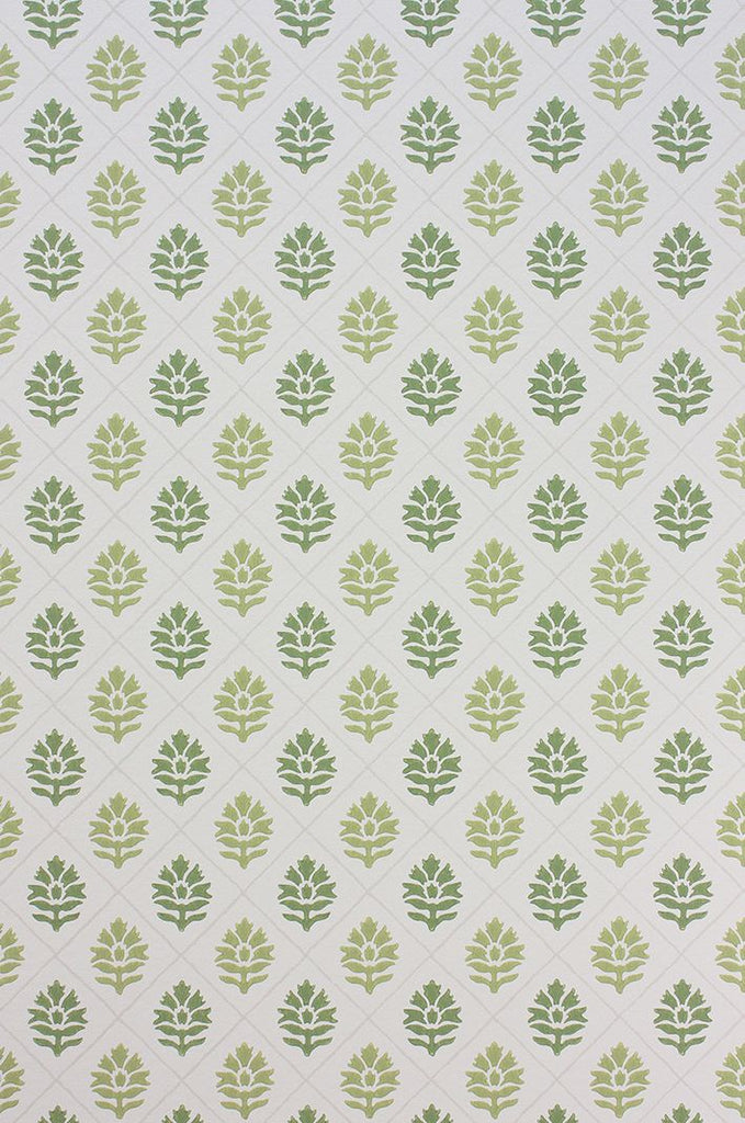 Camille Wallpaper in green from the Les Rêves Collection by Nina Campbell