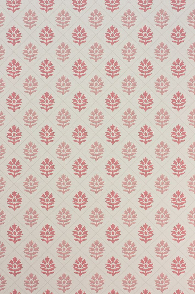 Sample Camille Wallpaper in light pink from the Les R��ves Collection by Nina Campbell