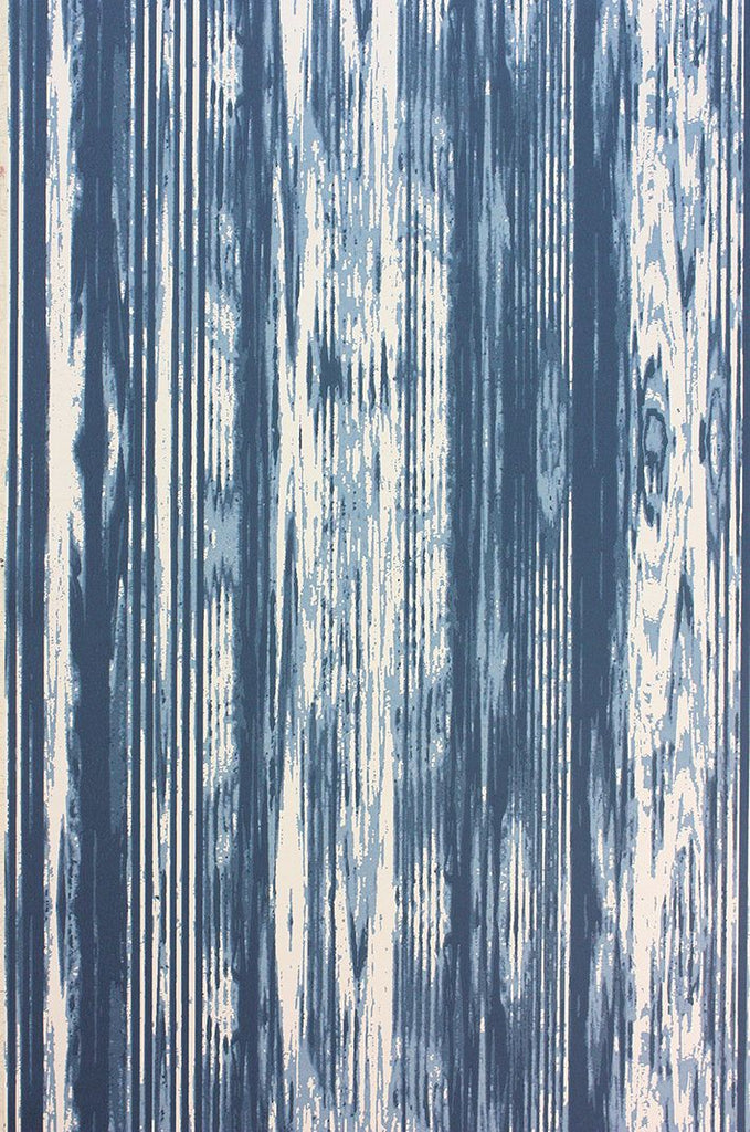Pampelonne Wallpaper in blue from the Les Rêves Collection by Nina Campbell