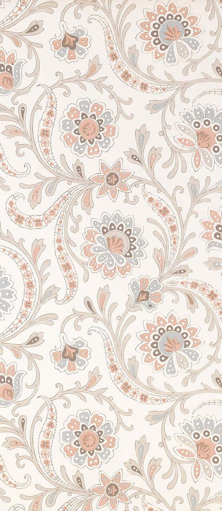 Baville Wallpaper in beige from the Les Indiennes Collection by Nina Campbell