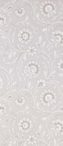 Baville Wallpaper in silver from the Les Indiennes Collection by Nina Campbell