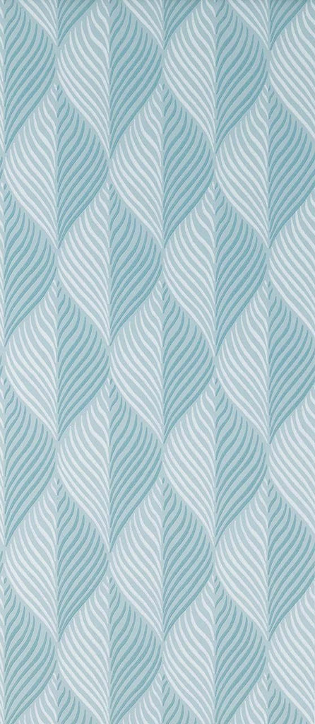 Bonnelles Wallpaper in turquoise from the Les Indiennes Collection by Nina Campbell