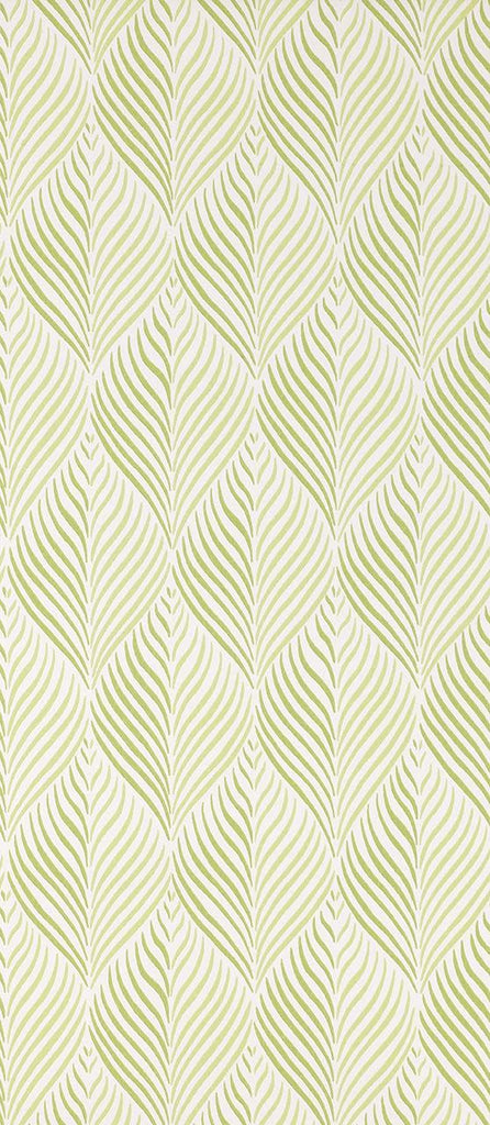 Bonnelles Wallpaper in green from the Les Indiennes Collection by Nina Campbell