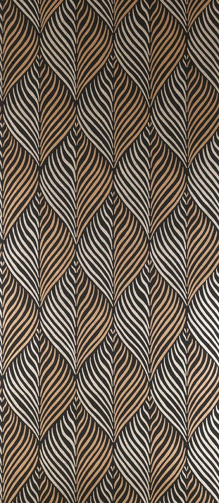 Bonnelles Wallpaper in brown from the Les Indiennes Collection by Nina Campbell
