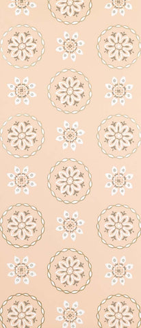 Garance Wallpaper in tan from the Les Indiennes Collection by Nina Campbell