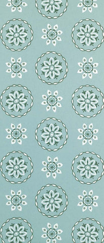 Garance Wallpaper in turquoise from the Les Indiennes Collection by Nina Campbell