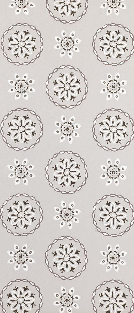 Garance Wallpaper in grey from the Les Indiennes Collection by Nina Campbell