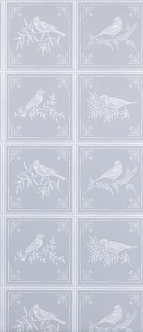Fortoiseau Wallpaper in silver from the Les Indiennes Collection by Nina Campbell