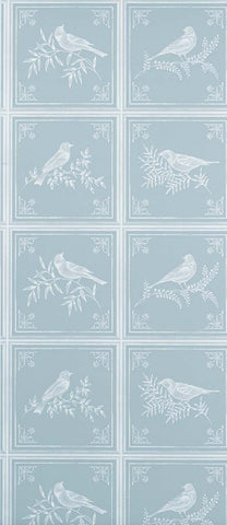 Fortoiseau Wallpaper in turquoise from the Les Indiennes Collection by Nina Campbell