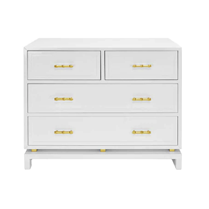 Four Drawer Chest with Gold Leaf Details in Various Colors