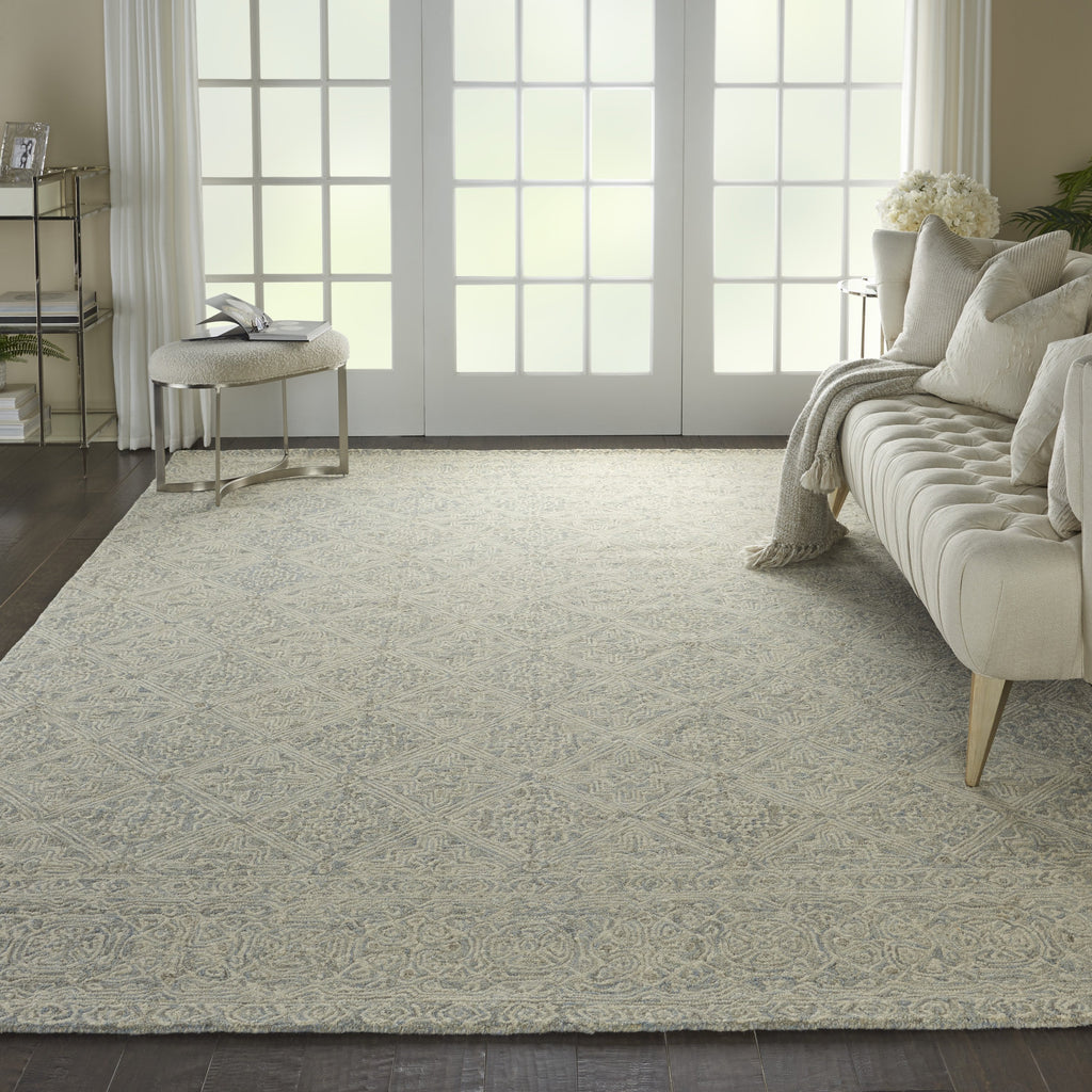Azura Rug in Ivory/Light Blue by Nourison
