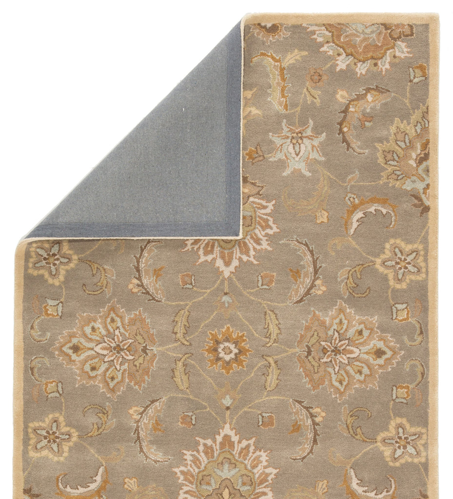 Abers Handmade Floral Gray/ Beige Area Rug by Jaipur Living