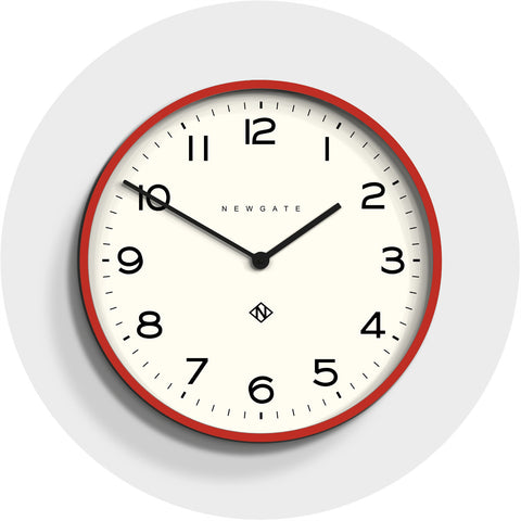 Number One Echo Clock in Fire Engine Red