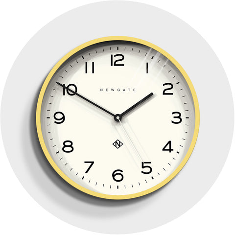 Number Three Echo Clock in Cheeky Yellow design by Newgate