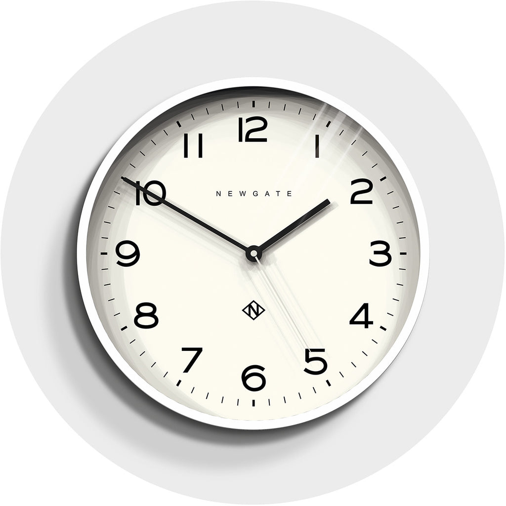 Number Three Echo Clock in Pebble White