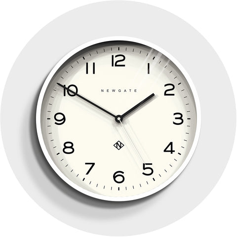Number Three Echo Clock in Pebble White design by Newgate