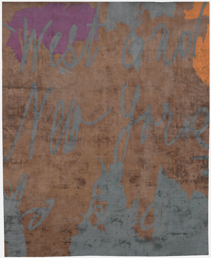 NY West Hand Tufted Rug in Orange design by Second Studio