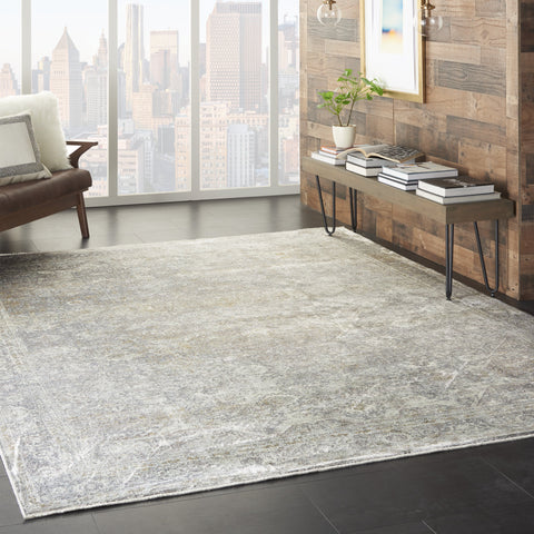 Starry Nights Rug in Silver/Cream by Nourison
