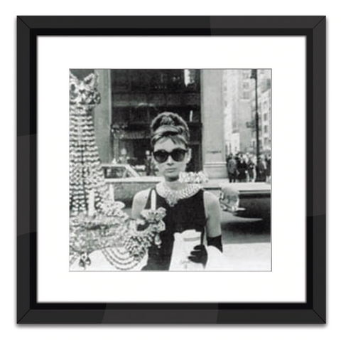 Shopping at Tiffany's in Black and White Print