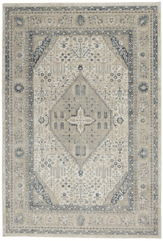 Malta Rug in Ivory & Grey by Kathy Ireland