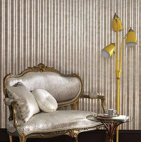 Ponti Wallpaper in tan from the Teatro Collection by Osborne & Little