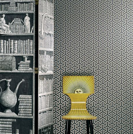 Trifid Wallpaper in Paynes Grey Color by Osborne & Little