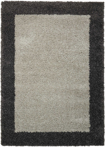 Amore Rug in Silver & Charcoal by Nourison