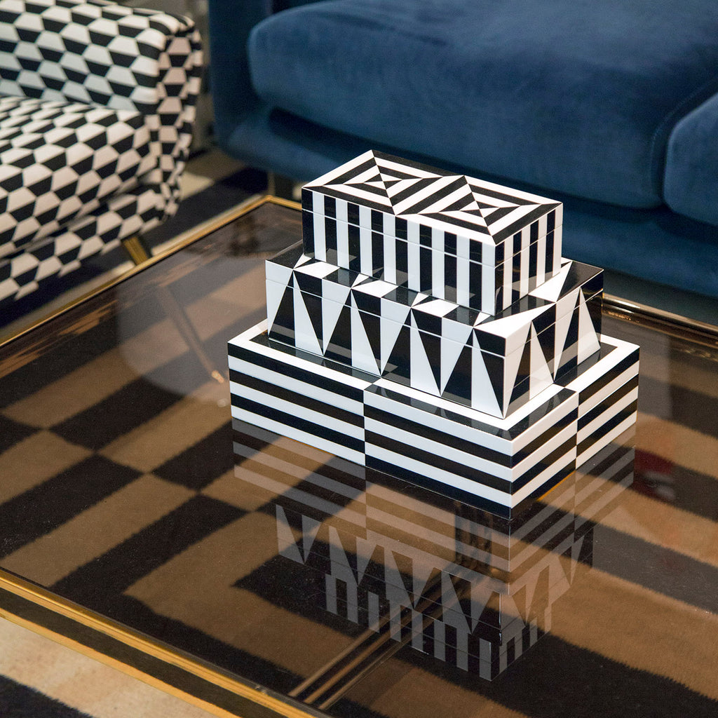 Small Op Art Lacquer Box