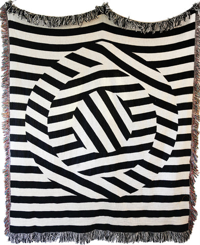 Optic Throw Blanket by elise flashman
